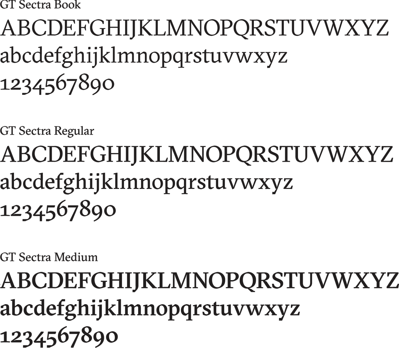 typography GT Sectra